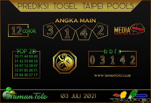 Prediksi Togel TAIPEI TAMAN TOTO 03 JULI 2021