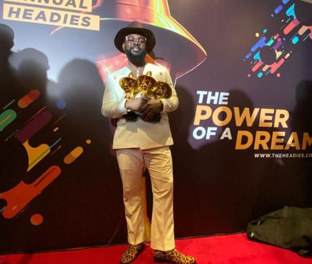 """#Headies2019: Falz flaunts his """"Hat Trick Of Headies Awards"""", calls for the release of Omoyele Sowore"""