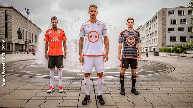 Les nouveaux maillots 2016-2017 du FC Lorient par adidas