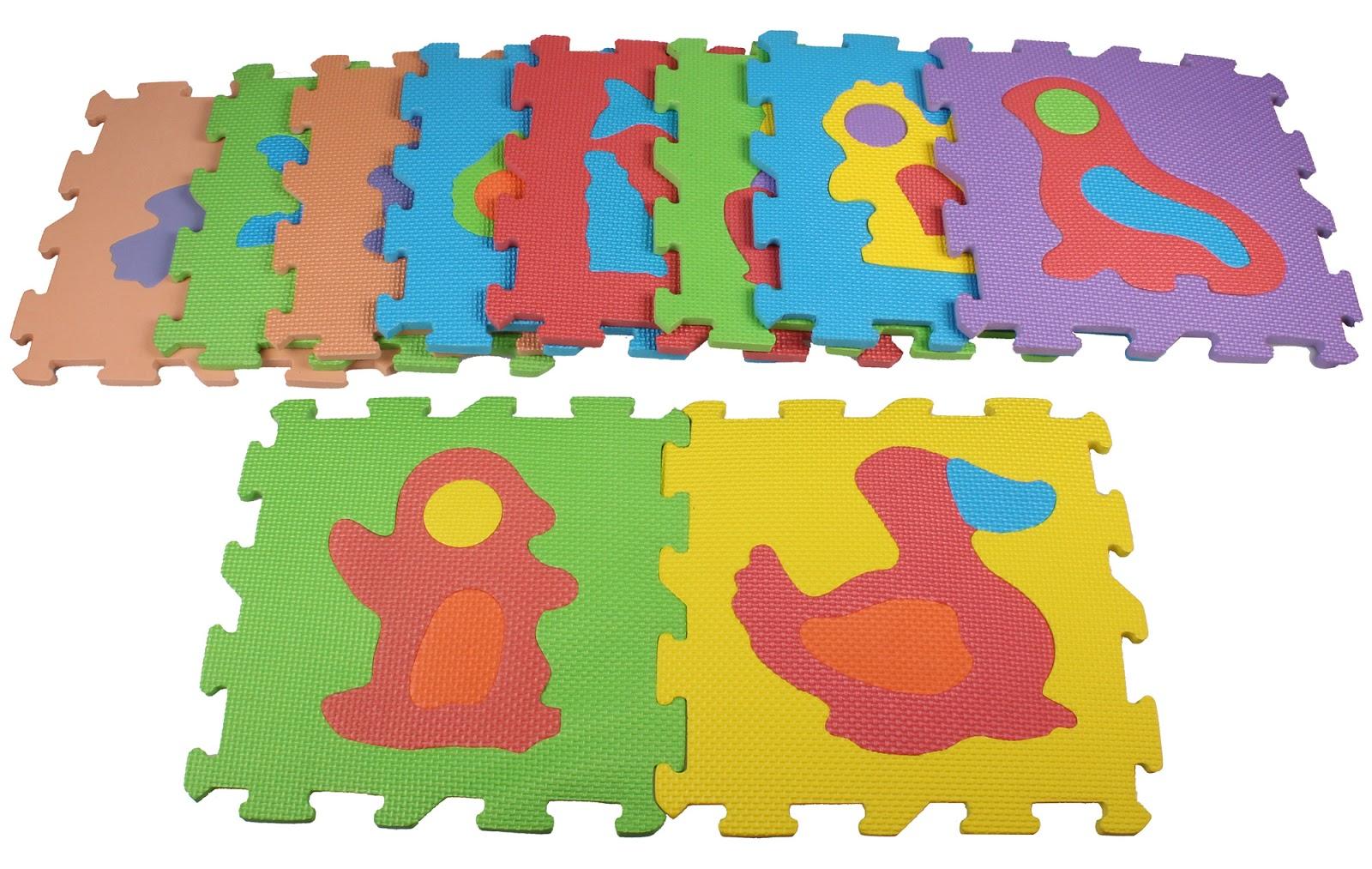 10 pcs 30cm x 30cm Animal Pattern Mat EVA Foam Floor