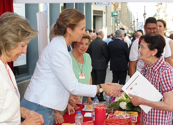 Infanta Elena presides over 'Caritas' charity fundraising event on the occasion of the Charity Day in Madrid