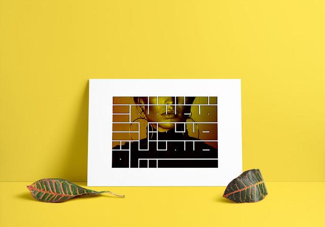 إسم (فضفوضة صغيرة) من تصميمي بالخط الكوفي المربع