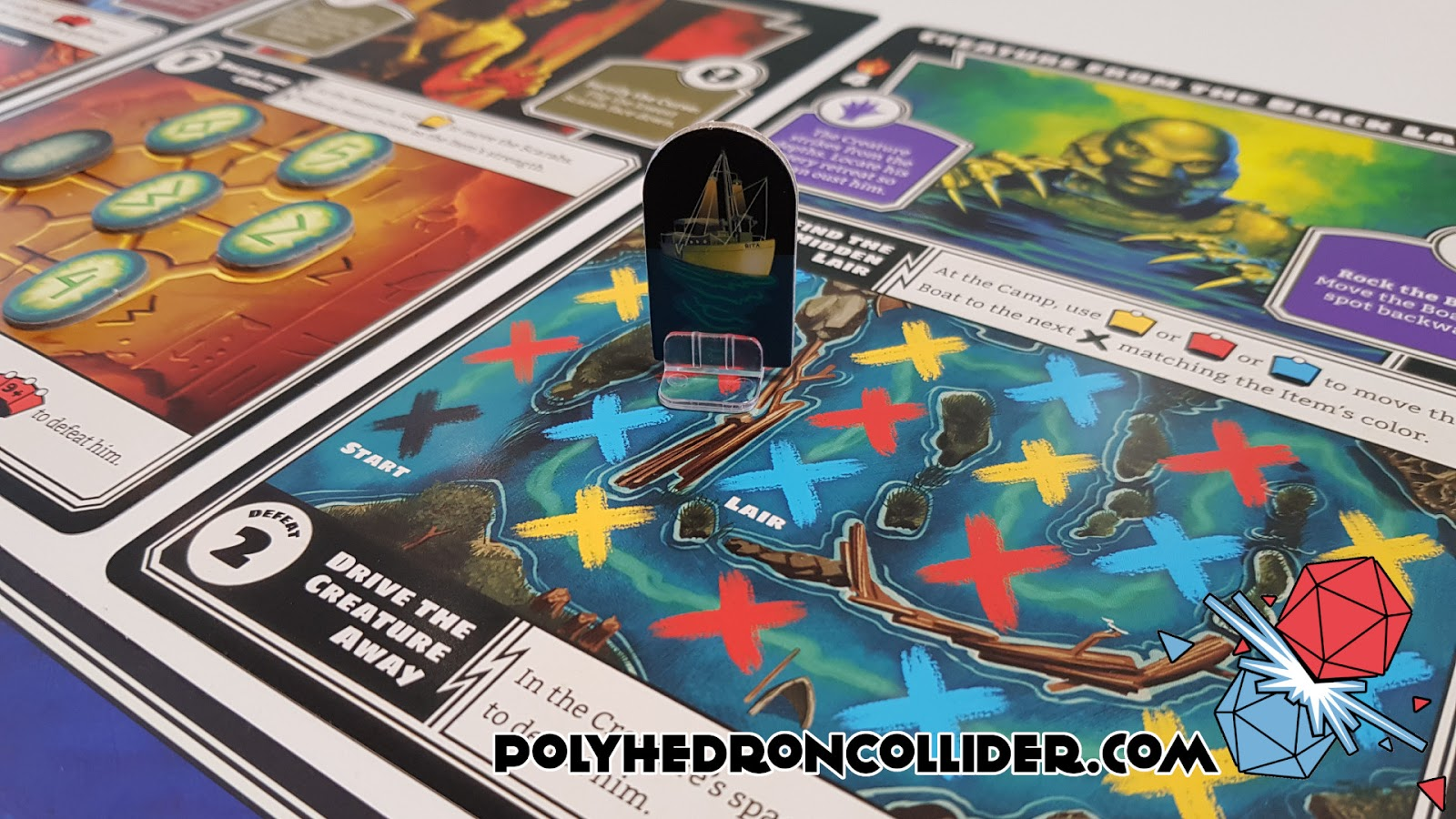 Polyhedron Collider Horrified Board Game Review - The Creature from the Balck Lagoon