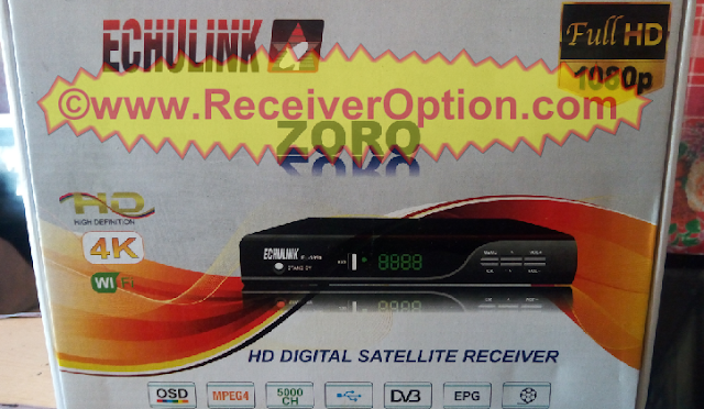 ECHULINK ZORO HD RECEIVER CCCAM & BISS KEY OPTION NEW SOFTWARE