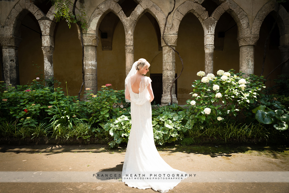 Bride Sorrento cloisters