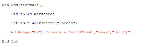 If we add the formula to the cell with quotes then we will get syntax error