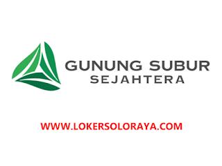 Loker Karanganyar di PT Gunung Subur Sejahtera Sebagai Design Staff
