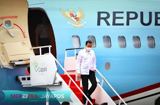 Presiden Joko Widodo di MAJT Jateng Tinjau Vaksinasi Ulama Dan Tokoh Lintas Agama