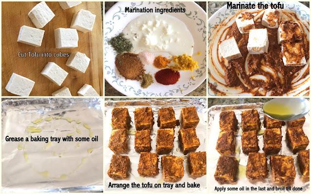 images of Tandoori Tofu / Baked Tandoori Tofu / Tofu Recipes
