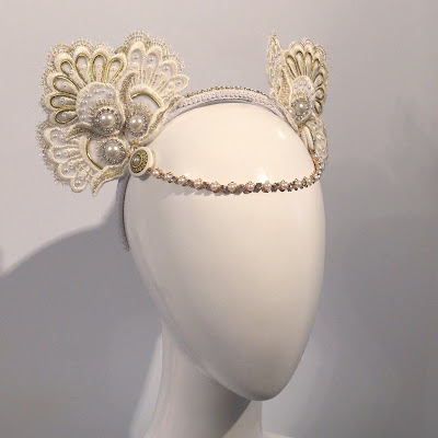Mystic Magic, moulin rouge, nicole kidman, fashion, bridal headpiece, wedding, bridal fashion, style, fashion, couture, millinery, craft, handmade, headdress, white, designer, movie, costume, pearls, gold, lace, sparkly, fashion week,