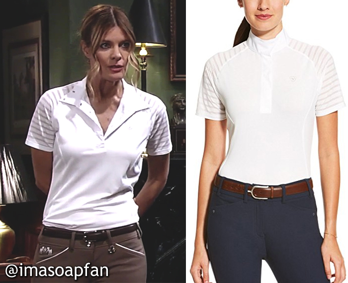 Nina Reeves, Michelle Stafford, White Riding Shirt, Ariat, GH, General Hospital