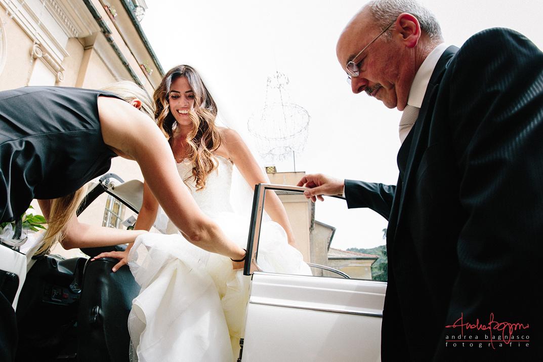 arrivo sposa fotografo matrimonio Genova