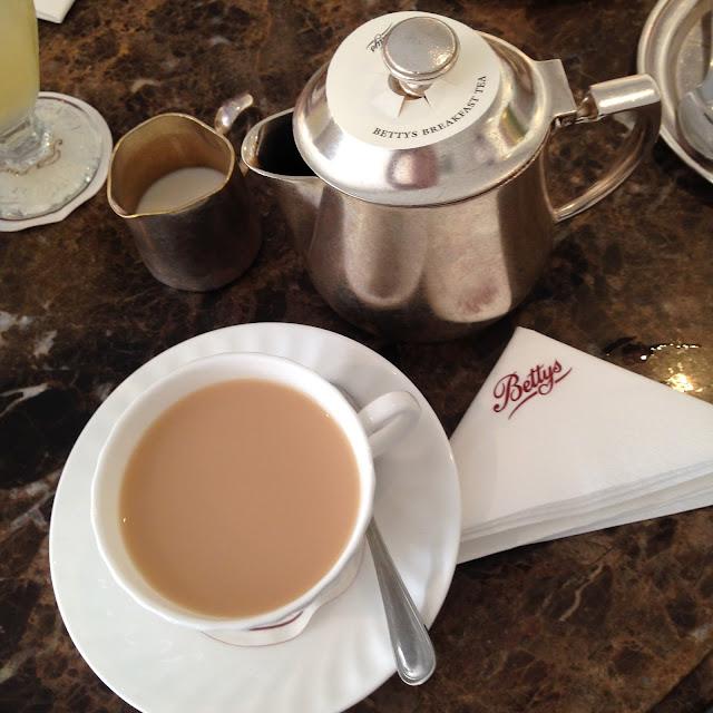 A pot of breakfast tea at Bettys in Harrogate