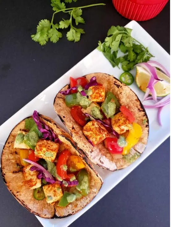 Paneer Tacos - Super Easy and Yummy Indian Mexican Fusion Recipe - LifestyleCoco