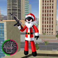Santa Claus Stickman Rope Hero Mod Apk