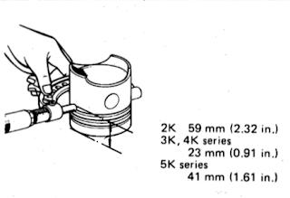 Mengukur diameter piston
