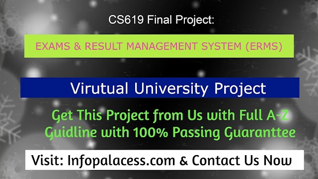 CS619- Exams & Result Management System (ERMS) Final Project