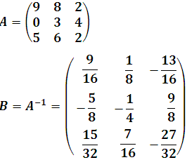 matriz inversa B