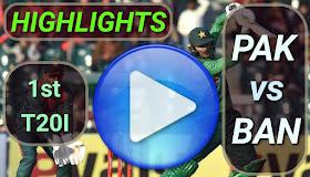 PAK vs BAN 1st T20I 2020