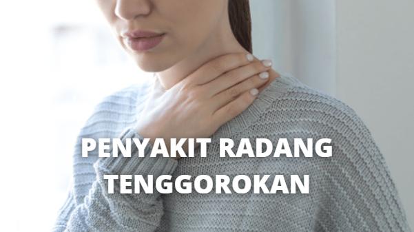 """Penyakit Radang Tenggorokan : Pengertian, Tanda dan Gejala, Penyebab, Faktor Risiko Pada Tubuh Manusia Pengertian Radang Tenggorokan Radang tenggorokan atau faringitis adalah infeksi tenggorokan yang umum. Pasien akan merasa tidak nyaman karena tenggorokan sakit atau terbakar sehingga meraka sulit makan. Penyakit ini biasanya sembuh sendiri dalam seminggu tanpa menyebabkan kerusakan.  Tanda dan Gejala Radang Tenggorokan Rasa tidak nyaman dalam tenggorokan adalah gejala paling umum. Gejala lainnya tergantung penyebabnya, misalnya mungkin sakit telinga, demam, amandel besar, sakit leher, sakit saat berbicara atau menelan, tenggorokan memerah, pilek, mendengkur dan sulit bernapas, mengeluarkan air liur, sakit pada umumnya, dan kelenjar yang membengkak dan sakit pada leher.  Penyebab Radang Tenggorokan Penyebabnya biasanya adalah virus, tapi bisa juga karena polusi udara, alkohol, alergi, bakteri, zat kimia, dan merokok. Ditambah lagi, penyakit ini biasanya muncul jika cuaca semakin dingin. Penyebab yang lebih jarang adalah virus gonorrhea, chlamydia.  Faktor Risiko Radang Tenggorokan Faktor risiko Radang Tenggorokan adalah sebagai berikut ini : Sistem imun lemah Berada di tempat yang ramai atau sempit seperti kelas, rumah sakit, atau kantor, dan sebagainya Terpapar asap rokok (perokok pasif) Alergi debu, bulu hewan, atau serbuk bunga Rhinitis kronis atau biasa Tidak ada faktor risiko bukan berarti tidak bisa sakit.   Nah itu dia bahasan dari penyakit radang tenggorokan, melalui bahasan di atas bisa diketahui mengenai pengertian, tanda dan gejala, penyebab, faktor risiko dari penyakit radang tenggorokan pada tubuh manusia. Mungkin hanya itu yang bisa disampaikan di dalam artikel ini, mohon maaf bila terjadi kesalahan di dalam penulisan, dan terimakasih telah membaca artikel ini.""""God Bless and Protect Us"""""""
