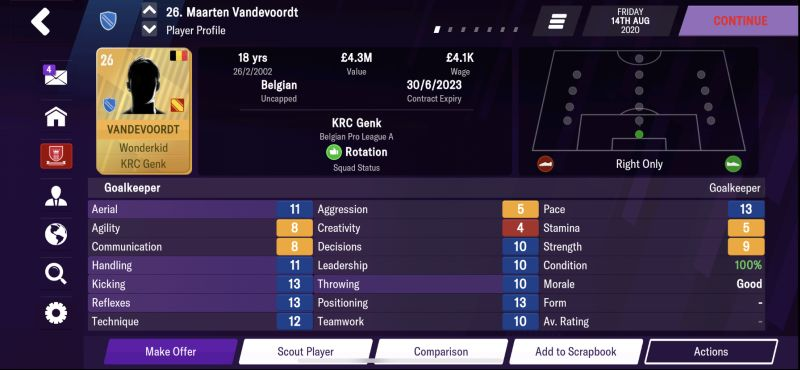 Football Manager 2021: the nuggets of the goalkeeper position