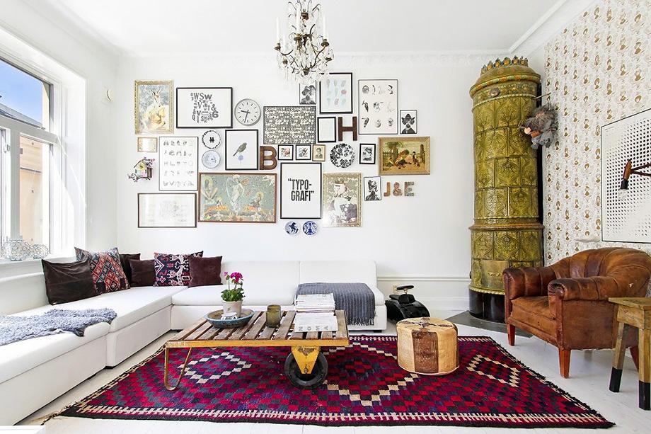 İskandinav havası taşıyan ev dekoru