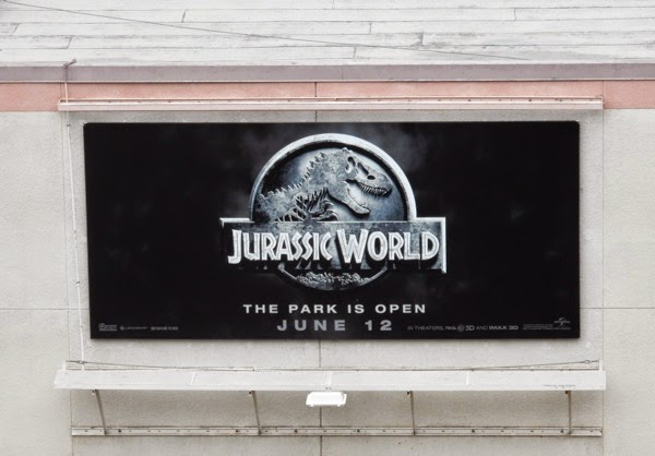 Jurassic World movie teaser billboard