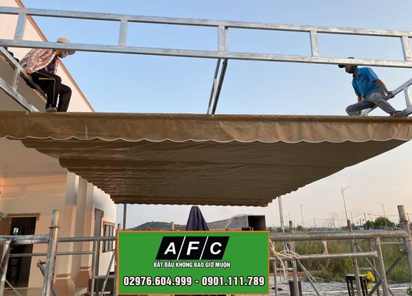 Thi công Mái hiên Mái xếp Mái che di động tại Phú Quốc