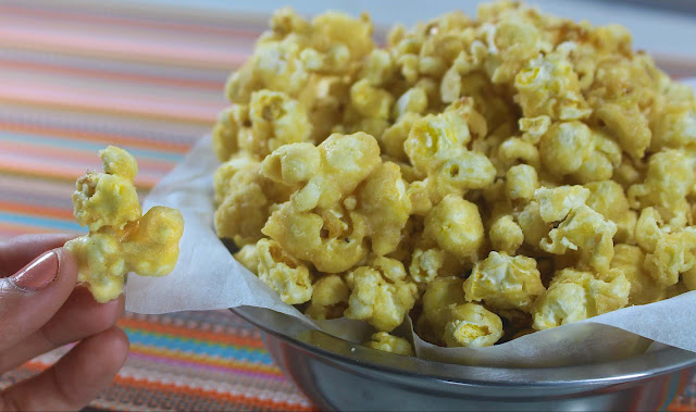 This is how to make Homemade Caramel Popcorn.