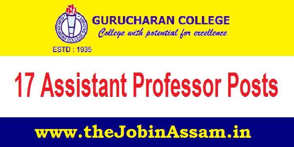Gurucharan College, Silchar Recruitment 2021