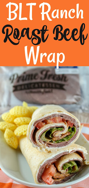 I'm a huge fan of Roly Poly Sandwiches! They're healthy and have so much variety! I've tried so many of them and what I love about this BLT Ranch Roast Beef Wrap is that it's perfect for taking on the go (picnics, parties, etc). #roastbeefwrap #roastbeefsandwich #rolypoly #copycatrecipe