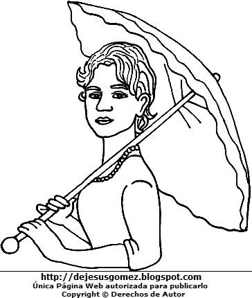 Dibujo de Alfonsina Storni para dibujar y colorear o pintar. Ilustración de Alfonsina Storni de Jesus Gómez