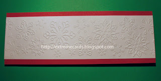 snowflake embossed card front