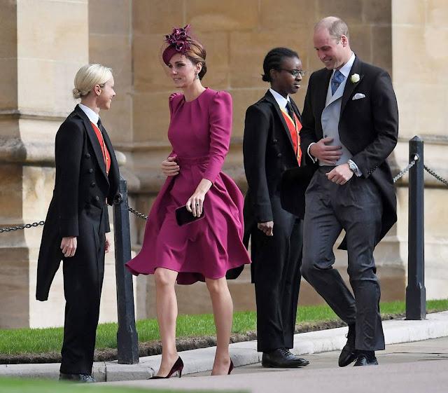 robe fuchsia Alexander McQueen Kate Middleton