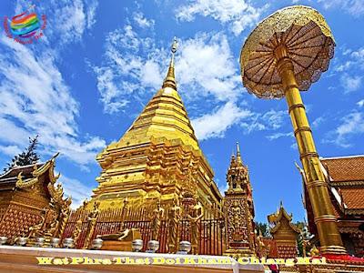 Golden Mountain Temple, Chiang Mai, Thailand