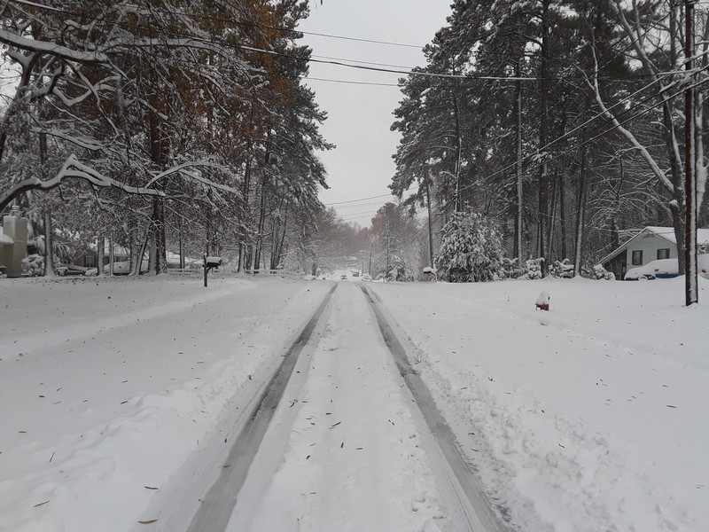 Quartier sous la neige