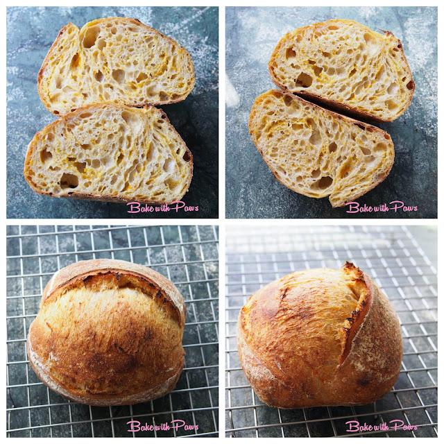 Pumpkin Open Crumb Sourdough Bread