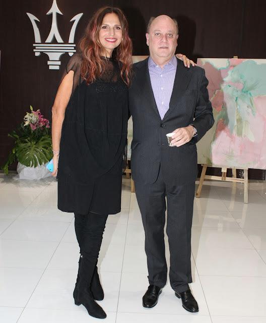 Ginette Reynal y Martín Cabrales en la presentación de #Etérea