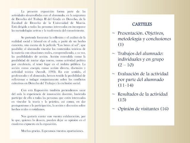 """Exposición """"Innovación en la docencia del Derecho del Trabajo: Exclusión Social y Conflictos Colectivos""""."""
