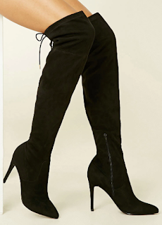 forever21 faux suedette over-the-knee boots