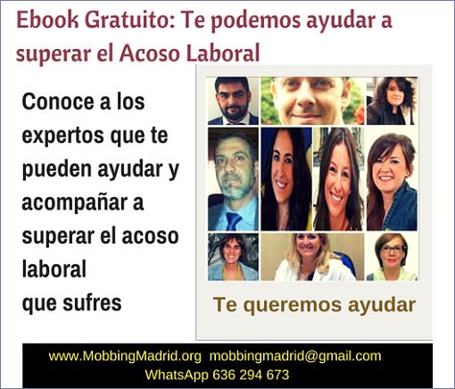 Ebook Gratuito: Estas son las personas que te pueden ayudar a superar el #AcosoLaboral