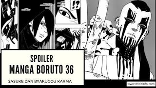 Spoiler Manga Boruto 36 : Sasuke Dan Byakugou Karma