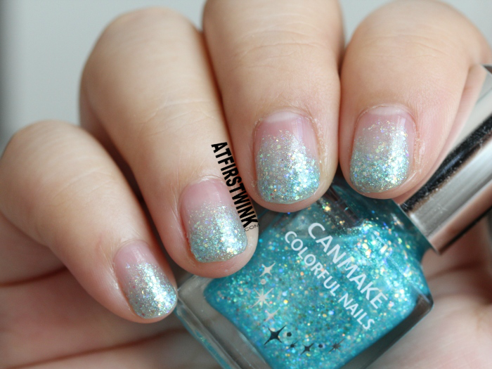 NOTD: Disney Cinderella film inspired nails (used canmake colorful nails 28) - from far