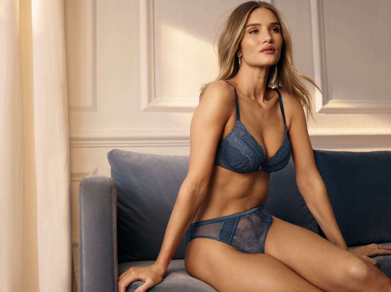 Rosie Huntington-Whiteley models her Marks & Spencer lingerie collection for summer 2021