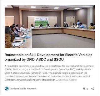 Roundtable on Skill Development for Electric Vehicles organized by DFID, ASDC and SSOU & DIYguru