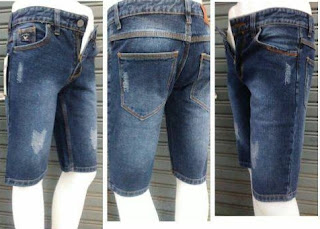 celana jeans pendek, celana pendek pria, celana pendek sobek, celana jeans murah