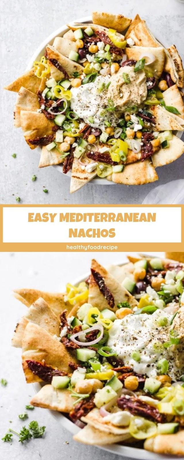 EASY MEDITERRANEAN NACHOS
