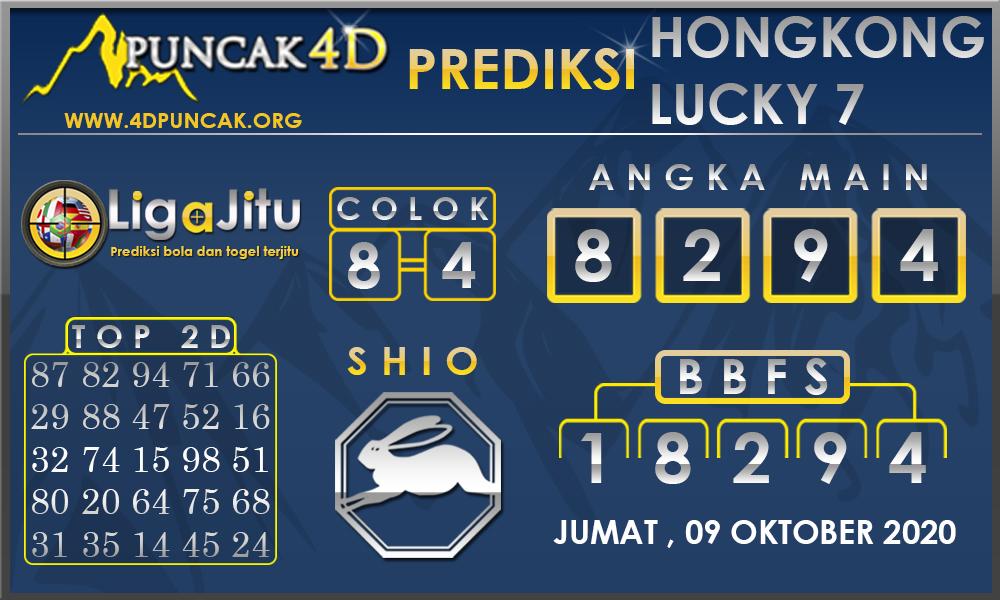 PREDIKSI TOGEL HONGKONG LUCKY7 PUNCAK4D 09 OKTOBER 2020
