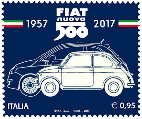 Fiat 500 Commemorative Stamp