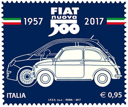 Fiat 500 Commemorative Stamp